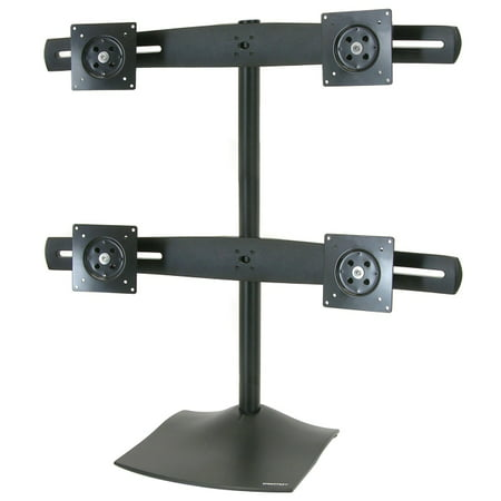 Ergotron 33-324-200 DS100 Quad-Monitor Desk Stand - Up to 124lb - Up to 24