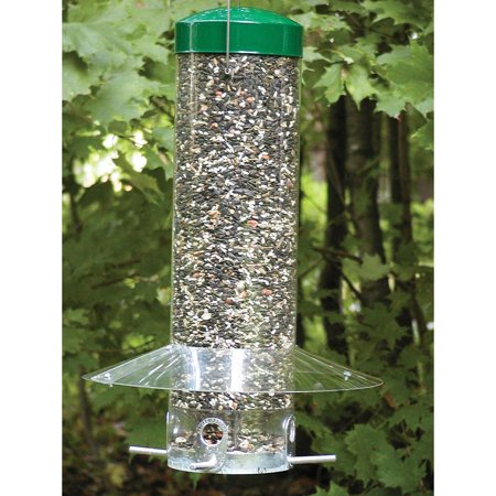 Birds Choice Hanging Bird Feeder with Baffle/Weather Guard Bird Feeder Weather Dome