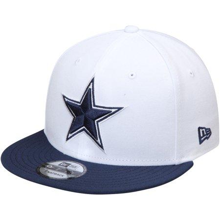 Dallas Cowboys New Era Two-Tone 9FIFTY Snapback Adjustable Hat - White/Navy - OSFA