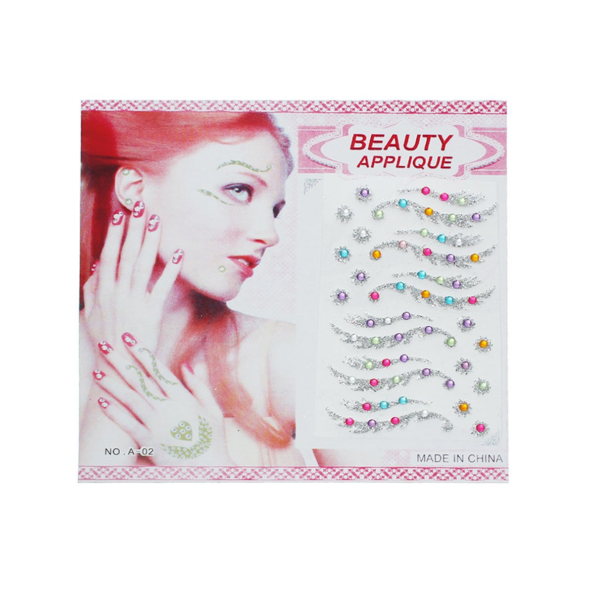 Glitter Shimmer Temporary Tattoo Sticker Body Art Flowers for Face & Body