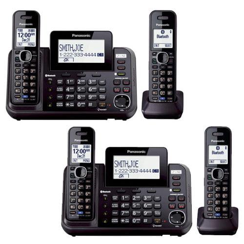 Panasonic KX-TG9542B DECT 6.0 Plus 2 Line 2 Handset Expandable Corded And Cordless Phones