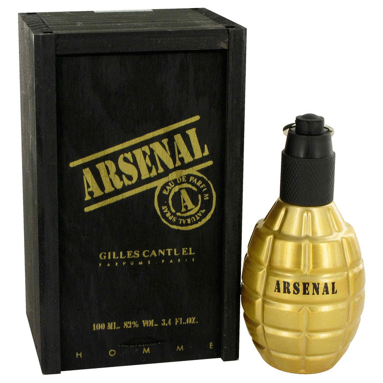 Arsenal Gold by Gilles Cantuel Eau De Parfum Spray 3.4 oz-100 ml-Men - Walmart.com