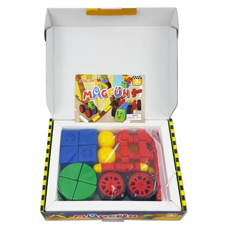 Best MagFun 32 Piece Magnetic Building Blocks 3D Shapes Educational Toy deal