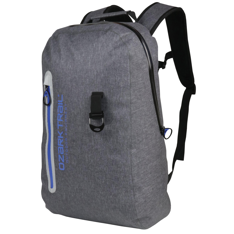 Ozark Trail Premium Leaktight Backpack with Bottle Opener, Gray