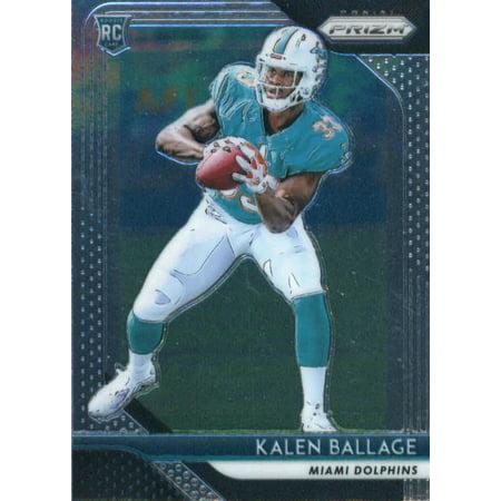 2018 Panini Prizm #234 Kalen Ballage Miami Dolphins Rookie Football Card - Dolphin One Card