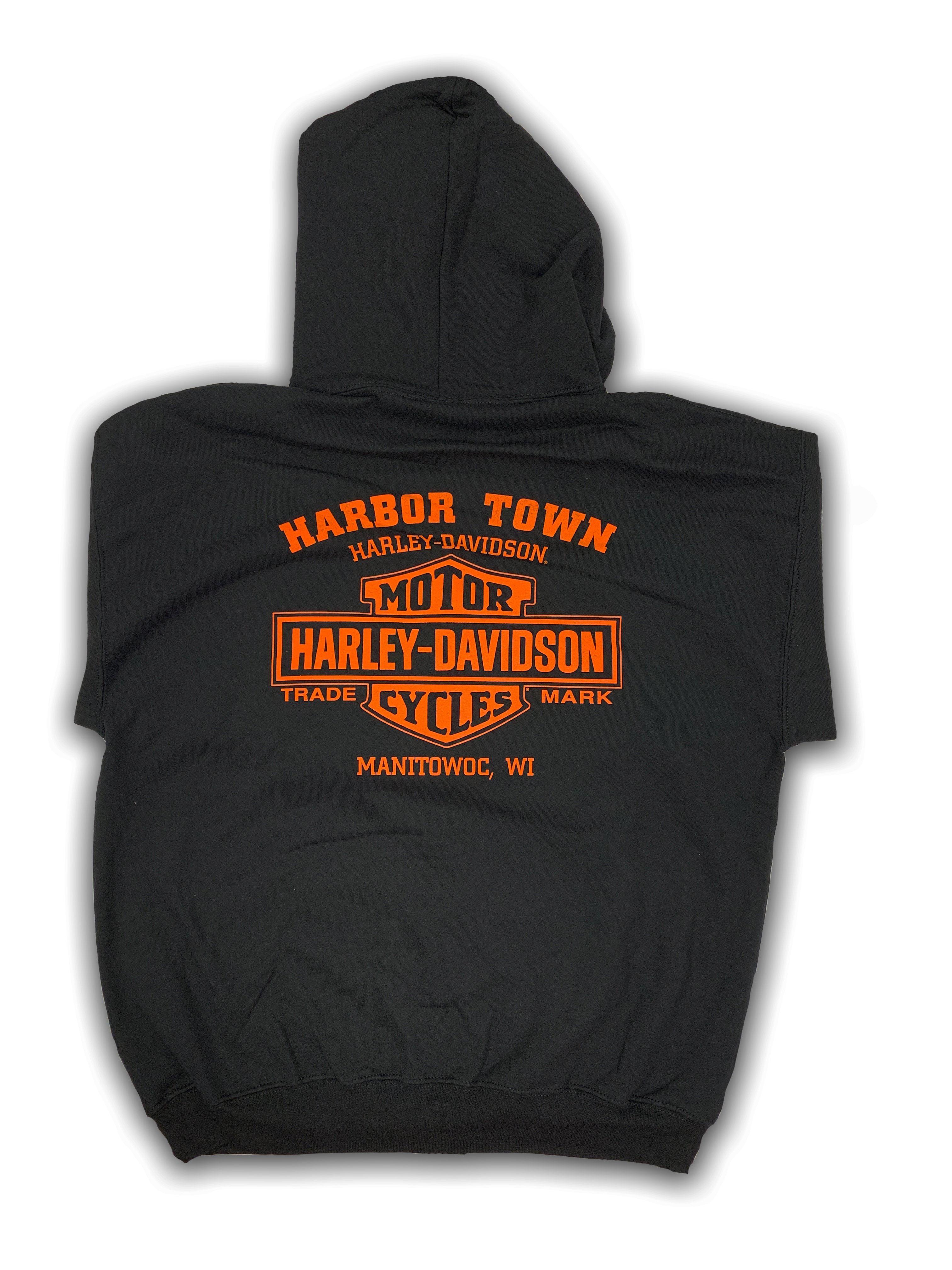 Mens Black Eagle Graphic T-Shirt RAF Lakenheath Retro Vibe Harley-Davidson Military