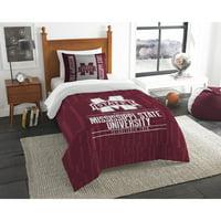 "NCAA Mississippi State Bulldogs ""Modern Take"" Bedding Comforter Set"