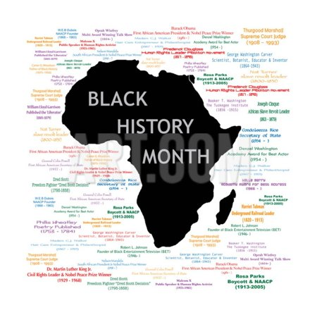 Black History Month Collage Print Wall Art By -