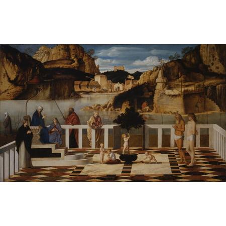 Uffizi Gallery - Holy Allegory By Bellini Giovanni 16Th Century 1500 -1505 About Oil On Panel Cm 73 X 119 - Italy Tuscany Florence Uffizi Gallery Everett CollectionMondadori Portfolio Poster Print