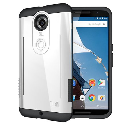 TUDIA RYFT Tough Rugged Dual Layer Protective Case with Kick Stand Features for Google Nexus (Nexus 6 Best Features)