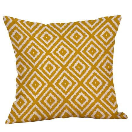 Mustard Pillow Case Yellow Geometric Fall Autumn Cushion Cover Decorative](Autumn Fall)