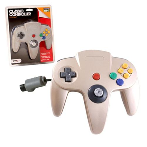 Wired Controller For Nintendo 64 System Gold