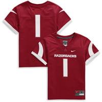 #1 Arkansas Razorbacks Nike Preschool Team Replica Football Jersey - Cardinal