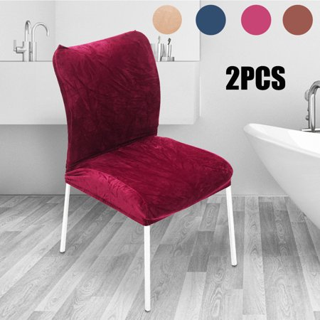 (Pack of 2) Plush Farley velvet Hotel Home Computer Chair Cover Set with Universal Anti-fouling Stretch Chair Cushion Cover
