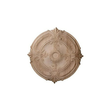 "24""OD x 2 1/4""P Carved Acanthus Leaf Ceiling Medallion, Cherry (Fits Canopies up to 2 3/8"")"
