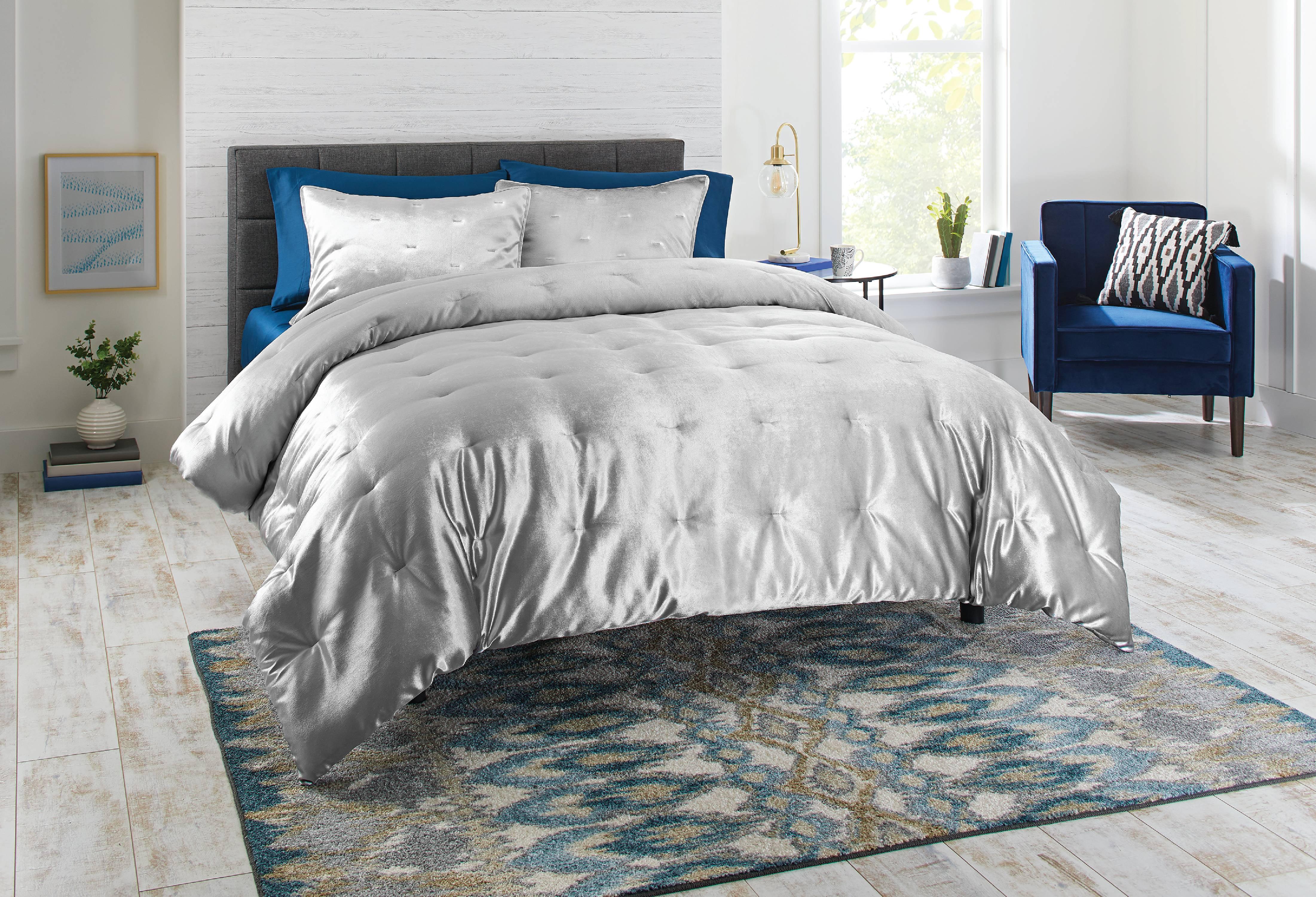Lulu Coco Crushed Velvet Comforter Set Multiple Sizes Colors Comforters Sets