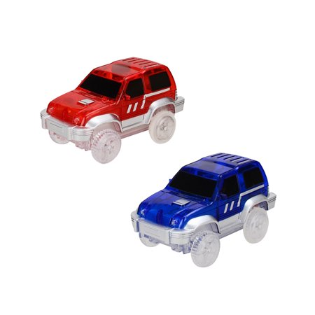 Children Electric LED Car for Magic Tracks Shining Racetrack Race Vehicle Toys Gifts for Kids(Not Included Tracks) Color:Random Color