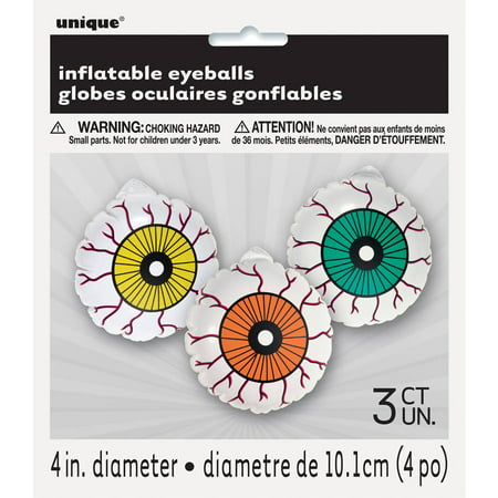 Inflatable Eyeball Halloween Decorations, 3-Count