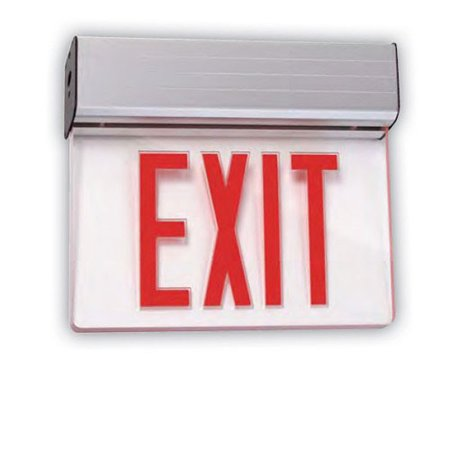 Sunlite 04318-SU Universal Red Exit Emergency Sign 1 Face Mirror Universal Exit Sign
