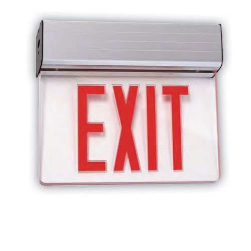 Sunlite 04318-SU Universal Red Exit Emergency Sign 1 Face Mirror