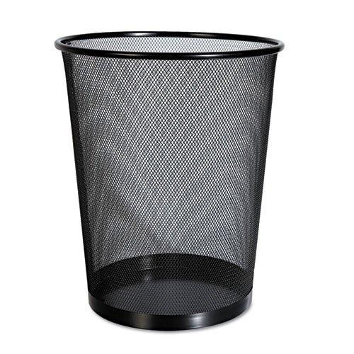 Universal Office Products 20008 Mesh Wastebasket, 18 Qt, Black