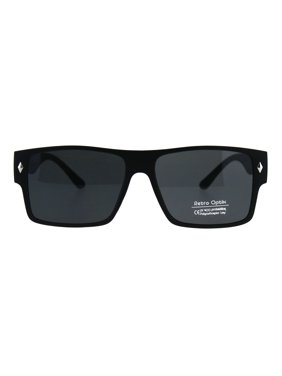 bed1f6db6f3 Product Image Mens Gangster Rectangular Horn Rim Plastic Squared Sunglasses  Black