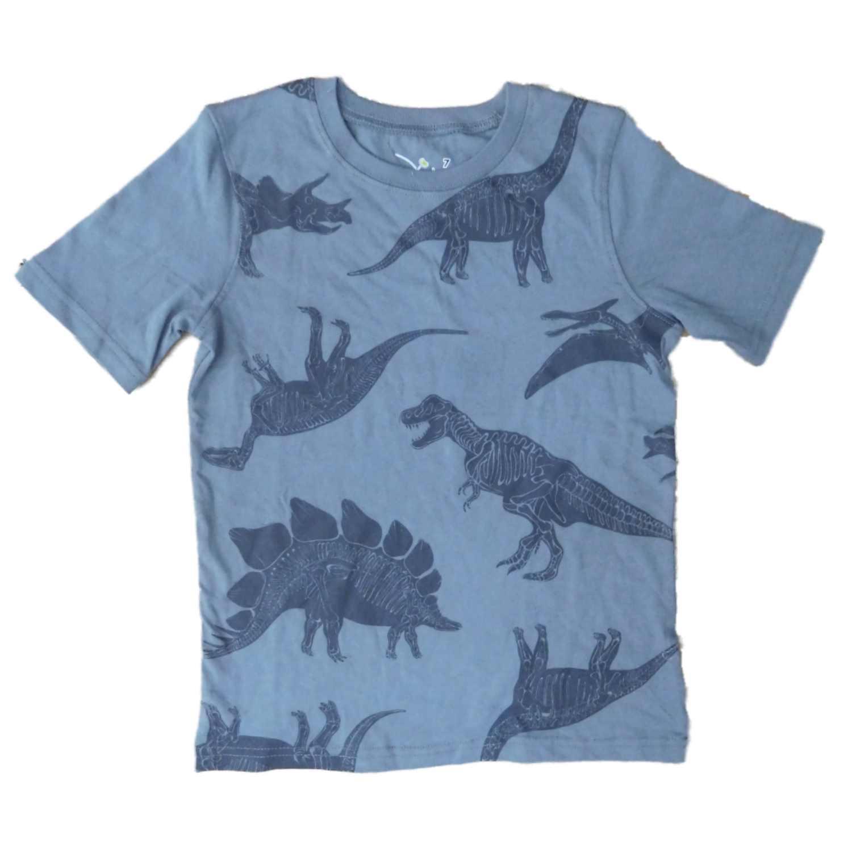 Jumping Beans Boys Gray Dinosaur Skeleton T-Shirt 7