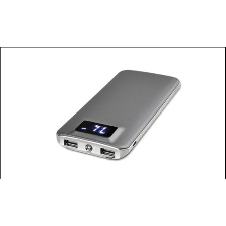 Portable 500000mAh LCD Power Bank External 2 USB Battery Charger For Cell Phone (External Battery Zilu)