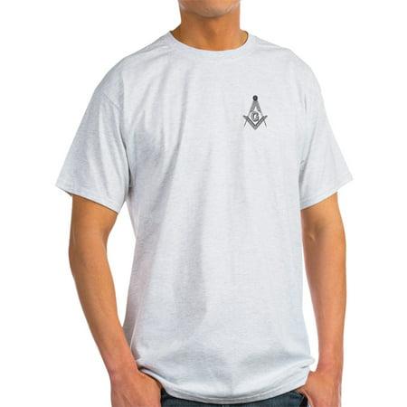 CafePress - Masonic Ash Grey T-Shirt - Light T-Shirt - (Polo Ash Grey T-shirt)