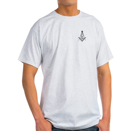 CafePress - Masonic Ash Grey T-Shirt - Light T-Shirt - (Poster Ash Grey T-shirt)