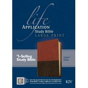 KJV Life Application Study Bible, Second Edition, Large Print, TuTone (Red Letter, LeatherLike, Brown/Tan)