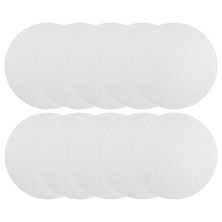 10 Pcs 6-Inch Aluminum Oxide White Dry Hook and Loop Sanding Discs 180 Grit - image 5 of 5