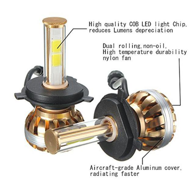Outtop NEW H4 120W LED Headlight Kit 6000K White Car Bulb Lamp Light