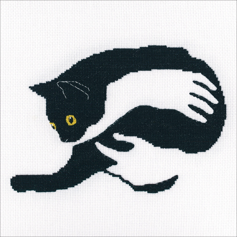 """16 Coun 499990423423 RTO Counted Cross Stitch Kit 8/""""X5.5/"""" Among Black Cats II"""