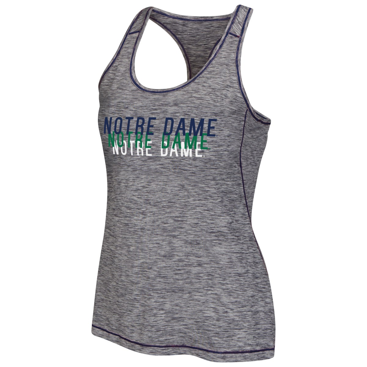 "Notre Dame Fighting Irish Women's ""Race Course"" Performance Racer Back Tank Top by Colosseum"