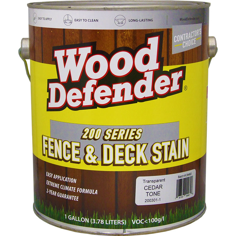 Wood Defender 200 Series Cedar Tone Transparent Stain & Sealer gallon