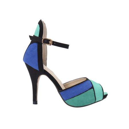 6cc2b4b9a Women Ladies Shoes High Heels Stilettos Platform Peep Toe Ankle Strap OL  Sandals Image 6 of