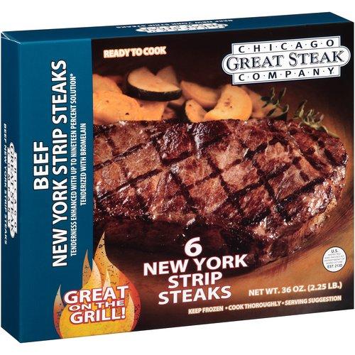Quantum Fz Boneless Beef New York Strip Steaks