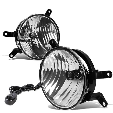 For 2005 to 2009 Ford Mustang 5th Gen Pair of Bumper Driving Fog Lights + Switch (Clear Lens) 06 07 - Ford Mustang Driving Fog Lights