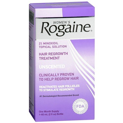 2 Pack Women's Rogaine Hair Regrowth Treatment Unscented 1 Month Supply Each