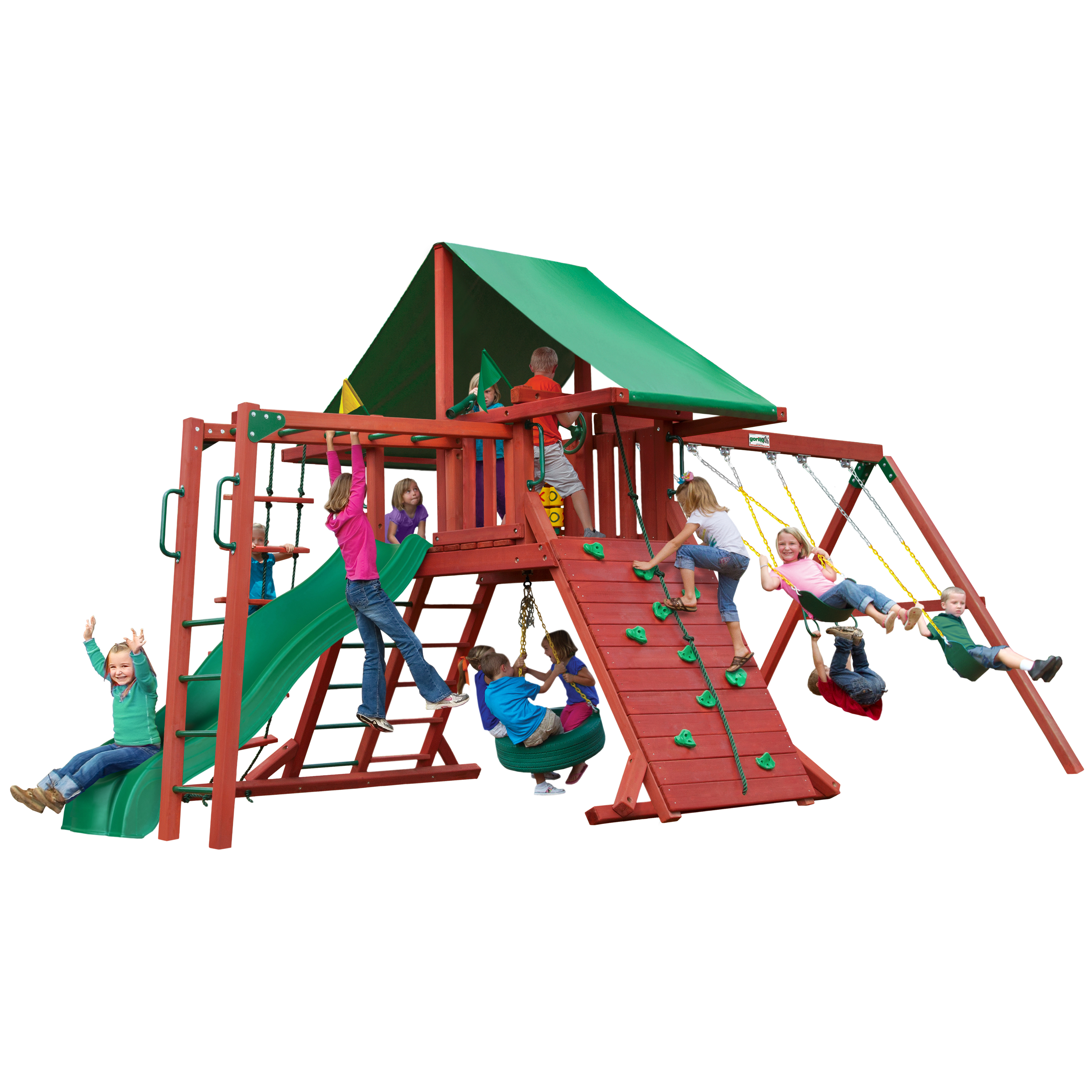 "Gorilla Playsets 37"" Green Metal Safety Handle - Wrap Mount"