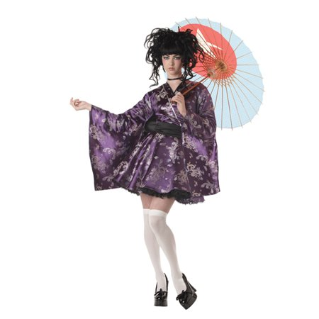 Lovely Lolita Japanese Princess Purple Teen Girls Halloween Costume L