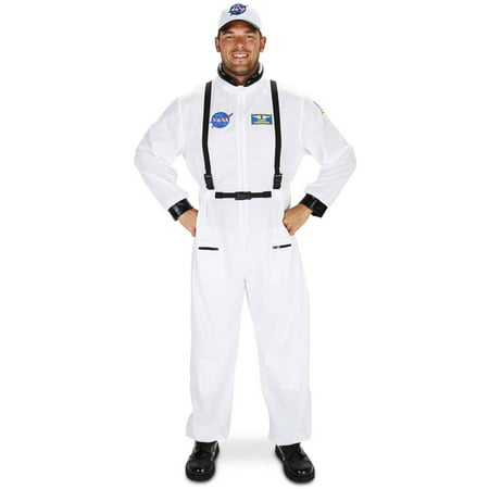 White Astronaut Suit Men's Adult Halloween Costume (Funny Halloween Costumes Men)