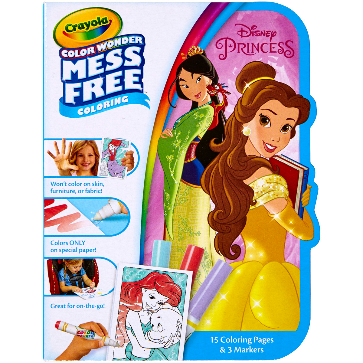 Crayola Color Wonder On The Go Coloring Kit-Disney Princess by Crayola