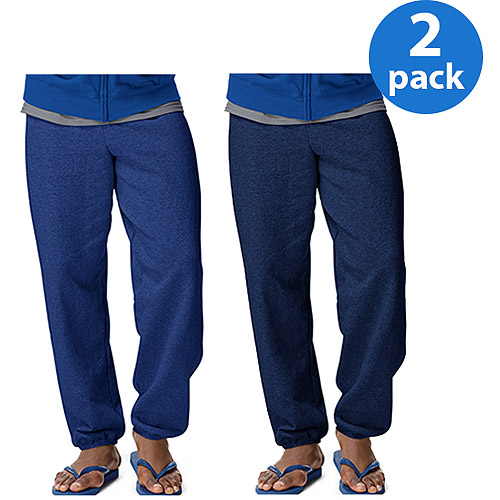 Hanes Men's ComfortBlend EcoSmart Fleece Pant, 2 Pack