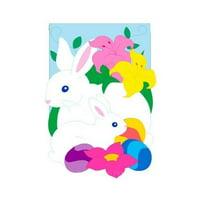 """Spring Bunny Garden Flag Indoor/outdoor 13.5"""" X 18"""""""