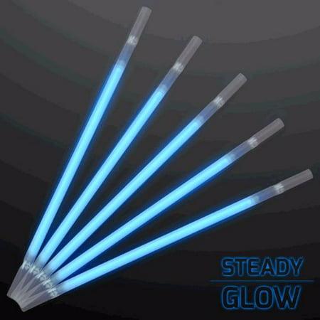 Blue Glow Drinking Straws Pack of - Glow Straws Wholesale