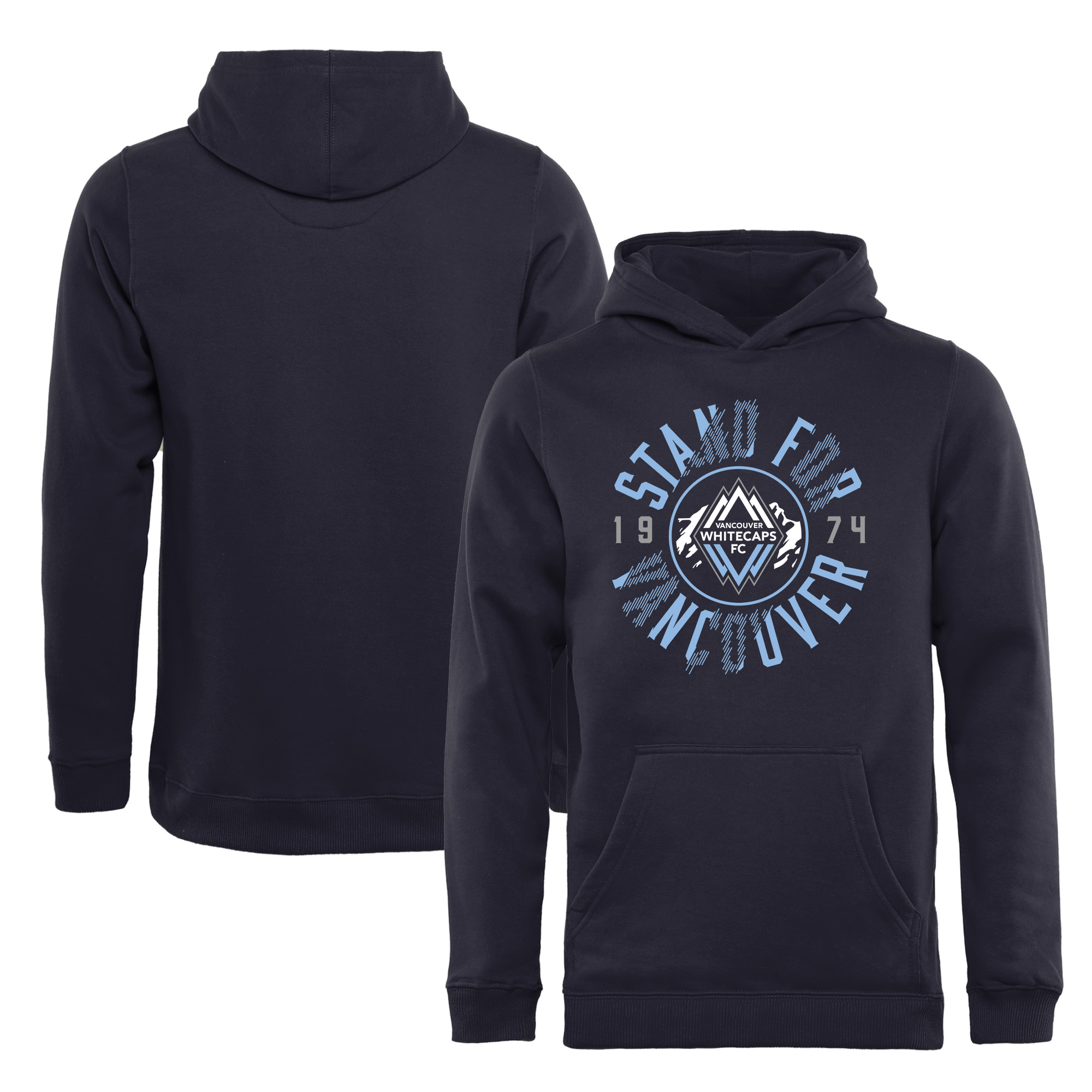 Vancouver Whitecaps FC Fanatics Branded Youth Stand For Vancouver Pullover Hoodie - Navy