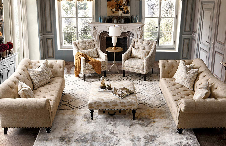 acanva luxury chesterfield vintage living room family sofa