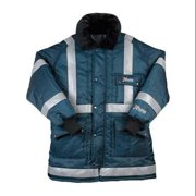 Reflective Coat,Insulated,Navy,4XL FW570